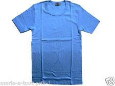 ARMOR LUX TEE-SHIRT homme manches courtes ras de cou cote fine peigné T2 XS bleu