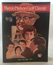 GTE Byron Nelson Classic Golf Program 1981 Bruce Lietzke Win