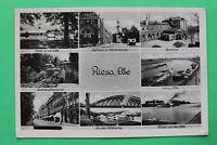 Sachsen AK Riesa Elbe 1930-40er Bahnhof Straße Geschäfte Dampfer Rathaus +++ S8