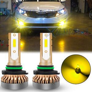 For KIA Optima Rio Soul EV Sportage Forte LED Fog Gold Yellow Driving Light Bulb