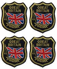 Great Britain Flag Patch Felt Crest Badge England UK 4 PACK Applique