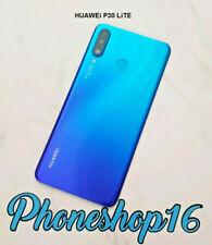 Original Huawei P30 Lite Akkudeckel Deckel Touch ID Glas Linse Backcover Blau B