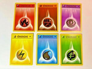 Carte Pokémon Lot Energie Set de Base Wizards Edition 1 PCA NM/Mint Neuf