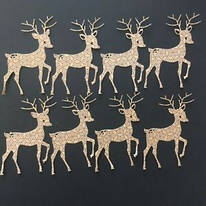 Cute Christmas Reindeer Die Cuts - Assorted sets of 8