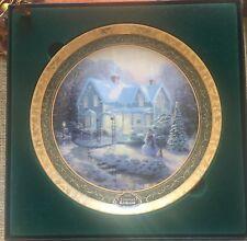Blessings Of Christmas Thomas Kinkade 2004 Collectable Plate Bradford Coa Box