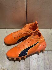 PUMA Men evoTOUCH PRO FG Cleats Orange Soccer Football Shoes Cleats Size 9 US