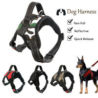 Adjustable No-Pull Dog Harness Reflective Outdoor Pet Vest for Medium Large Dogs