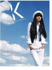 PUBLICITE ADVERTISING  2009  KARL LAGERFELD  haute couture