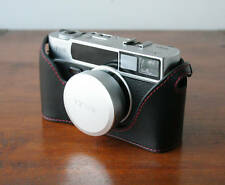 Mr. Zhou Black Leather Half Case with Red Stitching for Hexar AF Camera