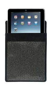 IPAD BLACK CARRYING CASE WITH BLING SHOULDER STRAP MULTIPLE USE PURSE/CASE