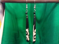 African-Arena Handmade Cow Bone Horn Batik Mud Polished Jewelry Earrings AA244