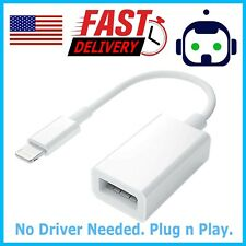 For iPhone 5 5s 6 6s Plus 7/XS/XR/X 8 Pin Male To USB Female OTG Adapter Cable