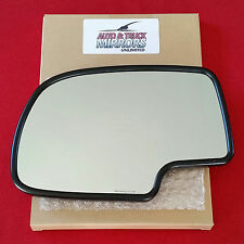 NEW MIRROR GLASS CHEVY GMC Driver Left Side HEATED BACKING