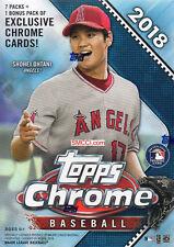 2018 Topps CHROME Baseball Blaster Box Packs 4 EXCLUSIVE GREEN Sepia Refractors