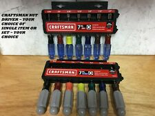 NEW CRAFTSMAN NUT DRIVER METRIC OR SAE - CHOICE OF SINGLE OR VARIOUS SETS