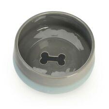 "Dutch Bisque Gray Bone Small Dog Bowl 6"" Set of 2 by Signature Housewares"