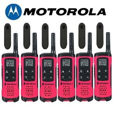 Motorola Talkabout T107 Walkie Talkie 6 Pack Set 16 Mile Two Way Pink Radios New