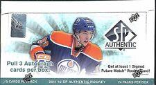 2011-12 SP Authentic Factory Sealed Hockey Hobby Box  Nugent-Hopkins AUTO RC?