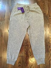 1,600$ Ralph Lauren Purple Label Gray Cashmere Sweatpants Size XL, Made in Italy