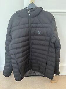 Spyder Black Puffer Jacket Large