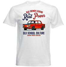 VINTAGE FRENCH CAR SIMCA RACING - NEW COTTON T-SHIRT