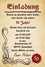 10 Einladungskarten Geburtstag Einladungen Geburtstagseinladungen Mittelalter