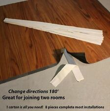 Vinyl Plank Flooring Transition Strips Change Direction Join Hallway Closet 8-PC