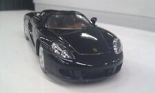 Porsche Carrera GT black kinsmart TOY car model 1/36 scale diecast open doors
