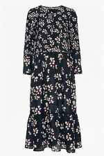 FRENCH CONNECTION Eva Crepe Midi Dress Loose Fit UK Size 12 NEW TAGS