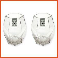 12 X Hexagon Clear Glass Vases 12x15cm | Flower Decoration Wedding Centrepiece
