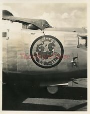 *WWII photo- B 24 Liberator Bomber plane Nose Art - TIME'S A-WASTIN'*