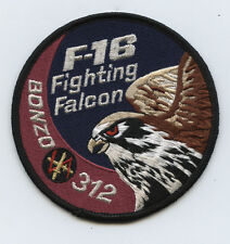 Royal Netherlands Air Force RNAF Bonzo 312 SQN Squadron F-16 Falcon RNLAF Patch