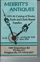 MG-012 - 1995-96 Merritt's Antiques Clock Repair Supplies Catalog Vintage Illus