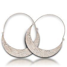 Cool Hammered Earring Thai Karen hilltribe  Pure Silver