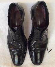 Johnston & Murphy Men Gillum Runoff Lace Up Black Patent Leather Oxford Sz 10.5M