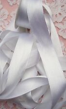 "100% PURE SILK /SATIN RIBBON ~WHITE~COLOR 6 YD  1"" [25MM] WIDE"