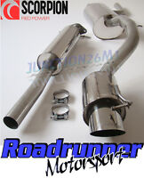 """Scorpion Focus ST170 Stainless Exhaust Flexi Back System 4"""" Tuner (02-05) SFD055"""