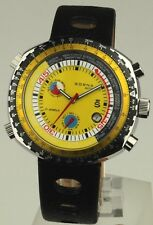 Sorna automatic watch tachymeter scale yellow version new unworn