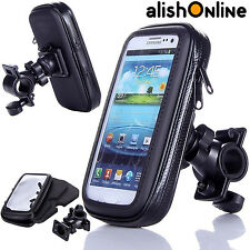 Bicycle Bike Mount Holder Cycle Case Cover Waterproof for Mobile Phones Black