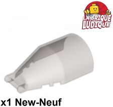 Lego - 1x Windscreen 7x4x2 cockpit round arrondi poignée trans black 92279 NEUF