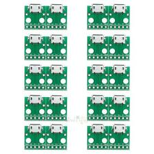 10Pcs Micro USB to DIP 5pin Female Connector Adapter B Type PCB Converter