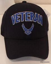 Classic U.S. Air Force Hat Veteran Eagle Crest Blue Baseball Cap Embroidered