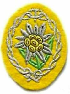WWII Désert Rats Mountain Edelweiss Afrika Korps Dak Patch (Thermocollant)