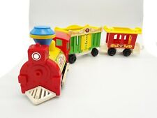 Vintage 1973 Fisher Price 991 Circus Zoo Train with Carriages Push Along