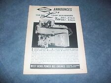 "1963 West Bend Big ""L"" Go Kart Vintage Engine Ad Power Bee Engines"