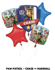 PAW PATROL, CHASE & MARSHALL, Foil Balloon Bouquet 5, Anagram SEALED