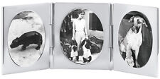 TRIPLE OVAL MINIATURE TRAVEL PHOTO FRAME 925 SILVER HALLMARKED FROM ARI D NORMAN