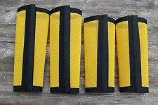 Fly Protection Leg Wraps/Leggings For Horses, TAPERED Fly Boots Set Of 4,Yellow