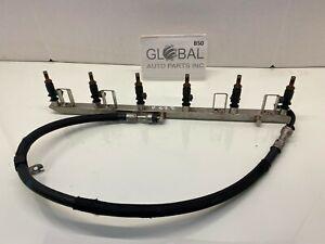11-13 BMW F10 528i N52N ENGINE FUEL RAIL W INJECTORS OEM