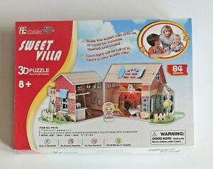 Sweet Villa 3D Puzzle Multifunctional Lights Up 84 Pieces Ages 8+